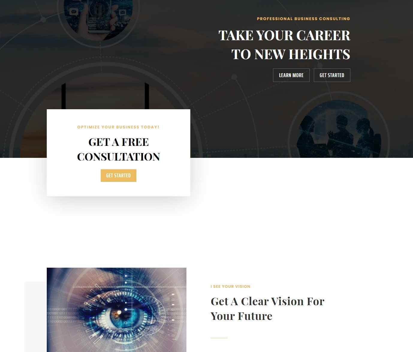 I See Your Vision Website Overview